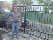Ворота откатные автоматические с калиткой