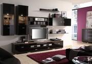 Мебель BRW в гостиную (Стенки).Крым  Мебель и Кухни Black Red White (
