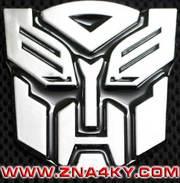 3d значки-шильдики Transformers (автоботи,  десептикони) для авто