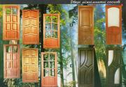 Дерев'яні двері з натурального масиву дуба,  сосни та вільхи
