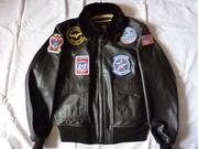 куртка мужская кожаная военного летчика США