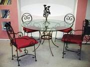 Кованы стільці,  столи,  художня ковка
