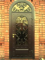 Ковані двері,  художній кований декор.
