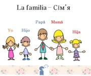 """Заняття з іспанської мови """"Вчимося говорити. Сім'я""""."""