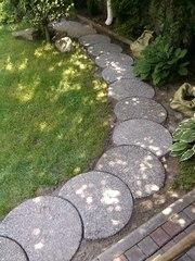 Садовые дорожки из гальки и мраморной крошки