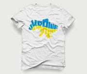Акция! Мужская футболка «Карта Ukraine» по отличной цене
