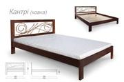 Ліжка натуральне дерево з ручною ковкою