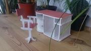 МЕБЕЛЬ ДЛЯ КУКОЛ Компьютерный стол и стул (Hand Made) Мебель для барби