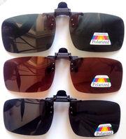 Поляризовані накладки на діоптрійні окуляри від сонця різних відтінків