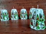 Свічки ручної роботи (8см) (Резние свечи)