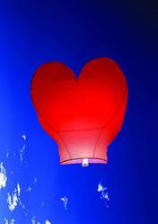 Ліхтарики повітряні,  ліхтарики небесні у формі Серця,  Купола